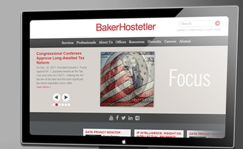 BakerHostetler LLP example screen
