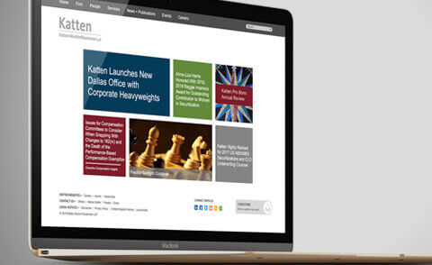 Katten Website & CMS example screen
